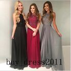 Luxury Sparkly Bridesmaid Long Prom Dress Wedding Evening Graduation Party Gowns