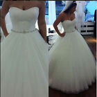 Swetheart Tulle Bridal Ball Gown Lace Wedding Dresses Custom 2 4 6 8 10 12 14 16