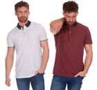 Mens 100% Cotton All Over Print Pocket Polo TShirt Short Sleeve Retro Top Gift