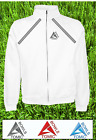 Atomic Bowls Mens Womens Unisex Lawn Bowls White Full Zip Sweatshirt Jacket