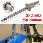 1PCS Ball Screw C7/SFU1605/SFU1204 250/300/400/500mm with Single Ballnut for CNC