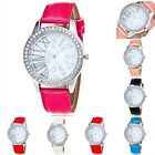 Fashion Women's Watch Leather Band Stainless Steel Analog Quartz Wristwatch Hot