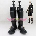 New Anime NieR:Automata 9s Black Boots Cosplay Shoe Custom Made Free Shipping