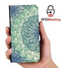 RFID Protected Emerald PU Leather Phone Wallet Case Cover for Samsung Galaxy