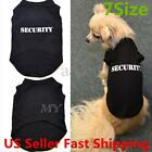 Pet Small Dog Puppy T-Shirt Security Vest Clothes Summer Apparel Costumes Black