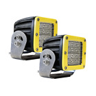 ALL MAKES AND MODELS RIGID 2 DIFFUSION LENS WHITE  D2 HD YELLOW LED LIGHT