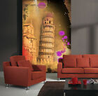 3d Pisa Leaning Tower 3877 Wallpaper Decal Decor Home Kids Nursery Mural Home