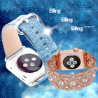 Bling Leather Watch Bands Wrist Strap Bracelet For Apple Watch 38 42mm