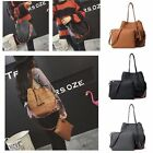 PU Leather Tassel Handbag Lady Bags Purse Shoulder Tote Satchel 2 Pcs/Set