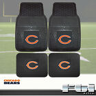 NFL Teams Heavy Duty Vinyl 2-Pc & 4-Pc Front Rear Floor Car Truck SUV Mat Sets