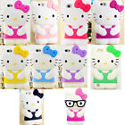 3D Kitty Cartoon Silicone Rubber Soft Case Cover For iPhone 5/6/7 Samsung LG C50
