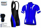 Mens Cycling Half Sleeve  Jersey, Top Racing Biking  Jersey + Bib short set
