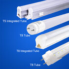 T5 T8 Integrated Tube LED Light Bulb 2FT/4FT Replacement Fluorescent Lamp Cool