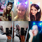 Exquisite Cat Ear headphones Gaming Headset Earphone Foldable Flashing with LED