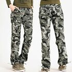 Women's Camouflage Cargo Military Casual Long Pants Trousers Dungarees Outdoor