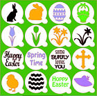 Easter / Spring Stencils Masks Cupcakes & Squares - cakes / cards / crafts