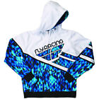 Fly Racing Kapuzenpulli Kinetic blau-weiß