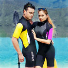 Adults 3mm Shorty Wetsuits Steamer Surf Wet Suit Shorties Surfing Sailing