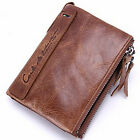 Genuine Crazy Horse Cowhide Leather Wallet Short Coin Purse For Men Gift New
