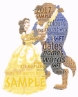 word art picture personalised gift present keepsake beauty and the beast bday