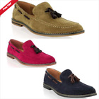 NEW MENS BOYS SLIP ON TASSEL LOAFERS DRIVING CASUAL SMART OFFICE SHOES SIZE 6-11