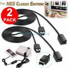 2x 6.56ft Extension Cable Cord for Nintendo NES Mini Classic Edition Controller