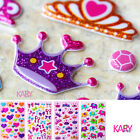 Cute Heart Bowknot Ribbon Crown Elephant Scrapbooking Shiny Bubble StickersToys