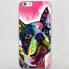 Border collie puppy dog boston terrier rigid case cover for iPhone 5 6 7 Samsung