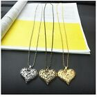 Peach Women's Pendant Statement Chain  Gold Filled Jewelry Necklace Slivery