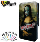Joker Batman Why So Serious Mona Lisa Painting - LEATHER FLIP PHONE CASE COVER