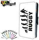 The Evolution of Rugby Player Sport Ball - LEATHER FLIP PHONE CASE COVER