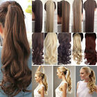 Real Thick Clip in Ponytils Hair Extensions Blonde Brown Ponytail Hairpiece hg27