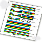 2017 world champion rainbow frame set stickers for UCI road bike bicycle decals