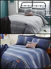 Catherine Lansfield Denim Grey Teenager Modern Cool Bedding Single Double King