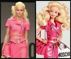 SS15 $1995 MOSCHINO Couture Jeremy Scott BARBIE PINK SOFT LEATHER SKIRT *RARE*