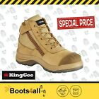 KingGee Mens Work Boots Safety Steel Toe Tradie Lace Up K27100 Wheat