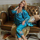 Affordable New Awesome Silk Blend 3pcs Lady's Sleepswear/ Pajama Sets M/L/XL/2XL