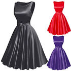 New Women Vintage Floral Swing Pinup Evening Party Sleeveless  Dress