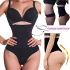 Women Bodysuit High Waist Cincher Girdle Tummy Control Thong Panty B