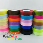 50 Yards / 46 Metres Organza Ribbon 10mm 15mm 25mm 38mm 50mm Various Colours