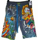 New Men's Ed Hardy Casual Shorts Beach Lounge Sleep Pyjama RRP$99 Flaming Skull