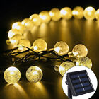 20 LED Crystal Ball Solar Powered String Indoor or Outdoor Lights