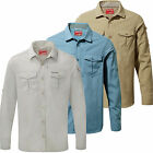 Craghoppers Nosilife Adventure Mens Long Sleeved Shirt Insect Repellent Travel