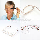 5 Lenses Magnifying Make Up Eye Glasses Spectacles With Pouch Flip Down
