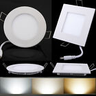 6W 9W 12W 15W 18W 21W Dimmable Driver LED Recessed Ceiling Panel Down Light Lamp