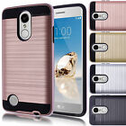 For LG Aristo LV3 Shockproof Hybrid Rubber Protector Rugged Hard Case Cover Skin