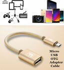 Micro USB Male to USB A Female Braided OTG Cable Adapter For Samsung Android
