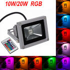 10W 20W RGB LED Flood Light Landscape Garden Outdoor Lamp IP65 Spotlight Remote