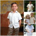 Boys And Kids Short Sleeve Guayaberas For All Ages Multiple Colors