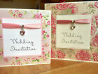 Wedding day/evening invitation & RSVP *36 background patterns*83 colours*SAMPLE